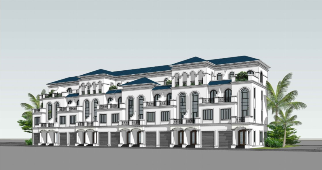 Mặt bằng thiết kế biệt thự liền kề vinhomes đảo Vũ Yên - Hải Phòng